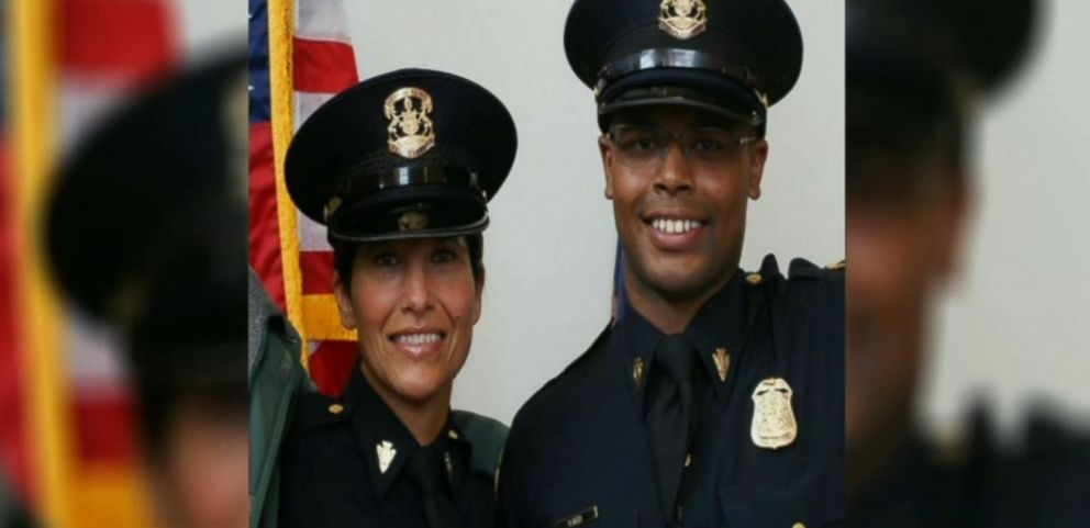 Maria Reed and her son, Dion, are both new police officers in Flint, Michigan.