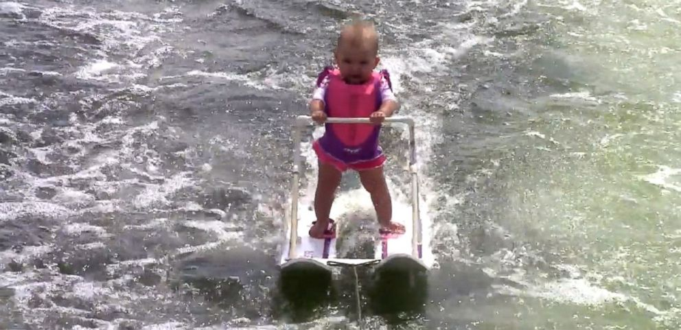 VIDEO: Zyla St. Onge skied for 62 feet on Lake Silver in Winter Haven, Florida.