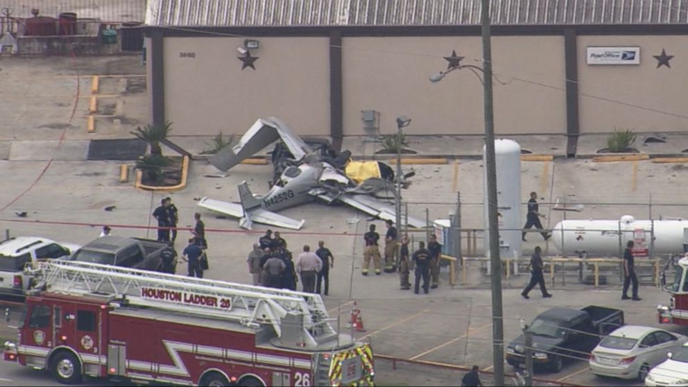 Three Killed When Small Plane Crashes Into Parked Car
