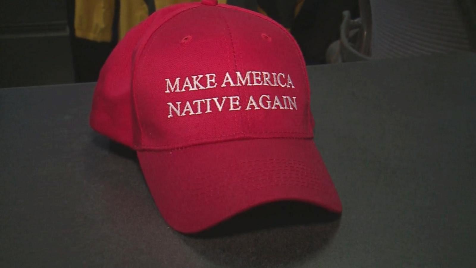 d9f33546ea1 Navajo Artist Creates  Make America Native Again  Hats to Critique ...