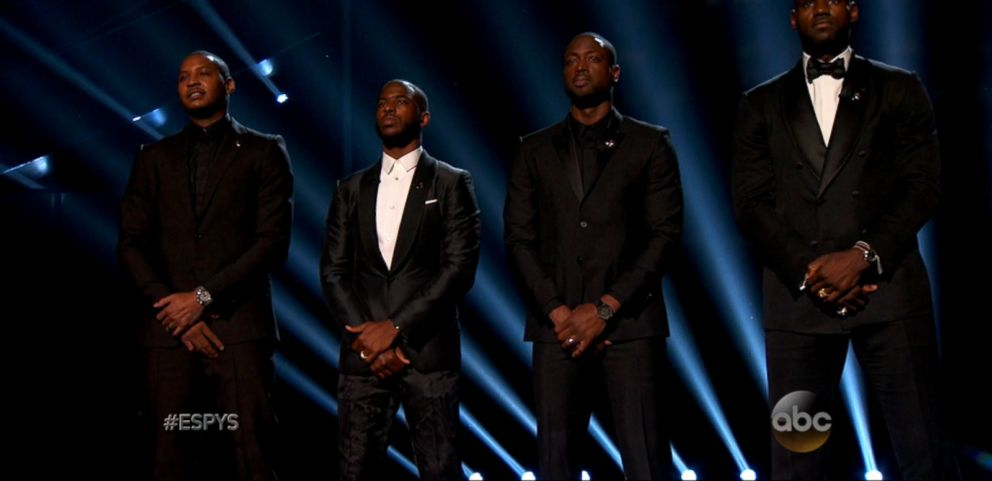 VIDEO: Four of the biggest names in the NBA made a powerful plea for an end to gun violence.