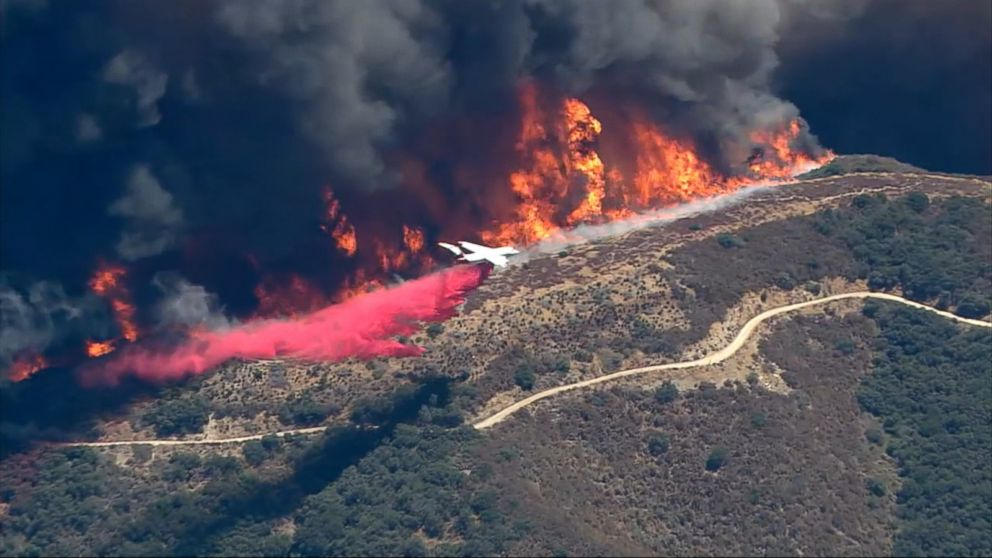 VIDEO: The devastating Blue Cut wildfire burning east of Los Angeles in San Bernardino County -- that has swallowed up homes and forced mass evacuations -- is now 25,626 acres with 4 percent containment, officials said Wednesday night.