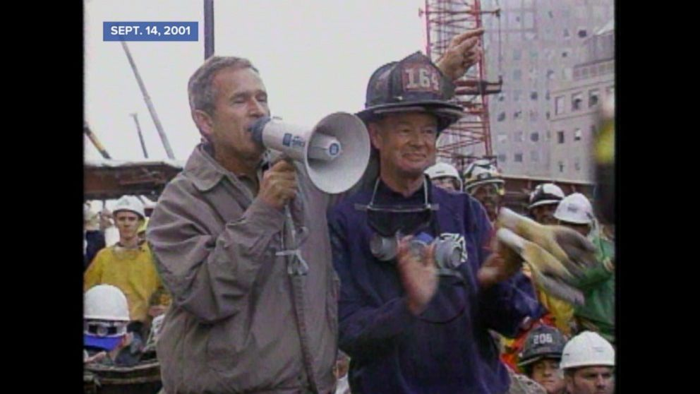 Archival Video President Bush Addresses First Responders At Ground
