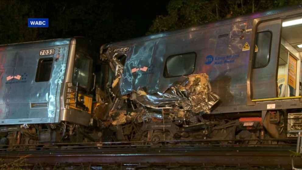 A Long Island Rail Road train carrying approximately 600 passengers derailed Saturday night east of New York City, leaving 33 people injured.
