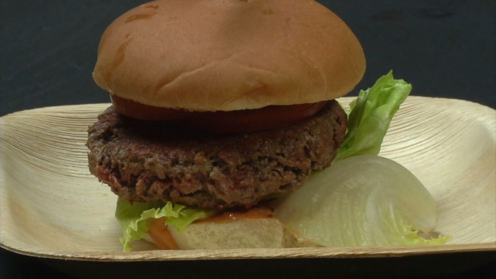 veggie burger created in lab promises to taste and look like beef video abc news. Black Bedroom Furniture Sets. Home Design Ideas