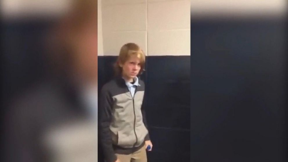 Drew Breton was cornered by students, hit and taunted at Semmes Middle School.