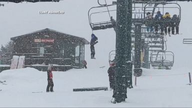 Chairlifts collide in ski-lift malfunction, injuring 5 Video - ABC ...