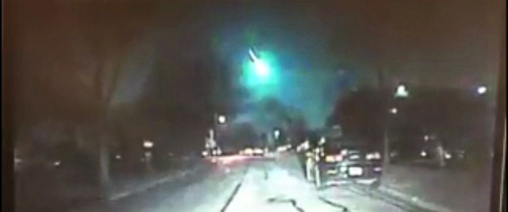 VIDEO: More than a hundred people reported seeing the fireball in the early hours of Monday morning.