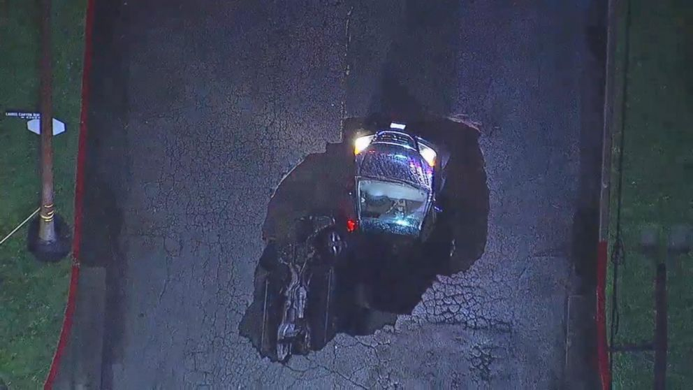 1 Person Injured In Southern California Sinkhole Video