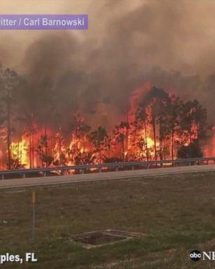 Devastation in Hemet, California, as brush fire rages