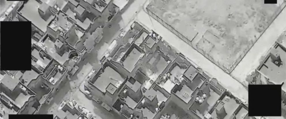 VIDEO: Drone video of ISIS forcibly moving civilians into a West Mosul home as human shield