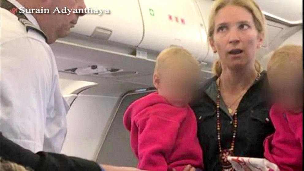 American Airlines flight crew and passengers clash over stroller ...