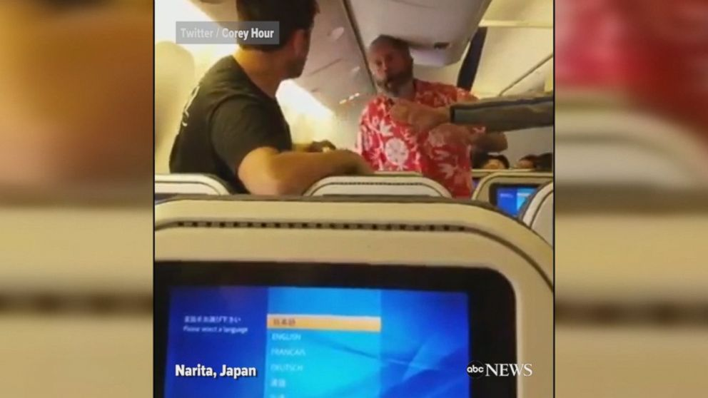 Good Morning In Japanese Yahoo : Fight breaks out on flight from japan to los angeles video
