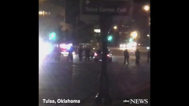 Protesters block Tulsa intersection after cop acquitted in shooting of unarmed black man