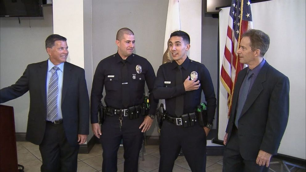 Lapd Officers Honor Fathers By Wearing Their Badges - Abc News
