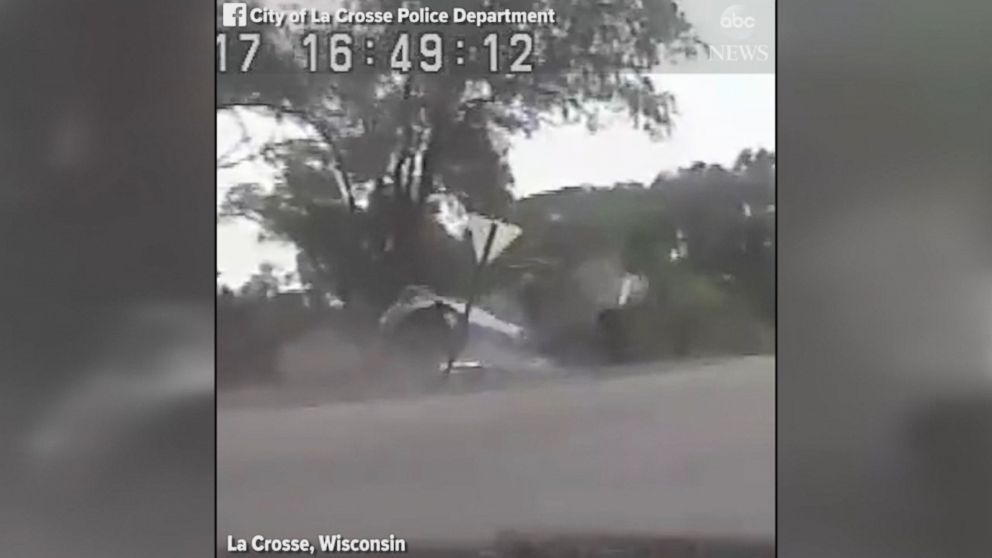 High-speed chase caught on police dashcam