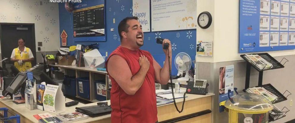 VIDEO: Man belts national anthem over intercom at Walmart