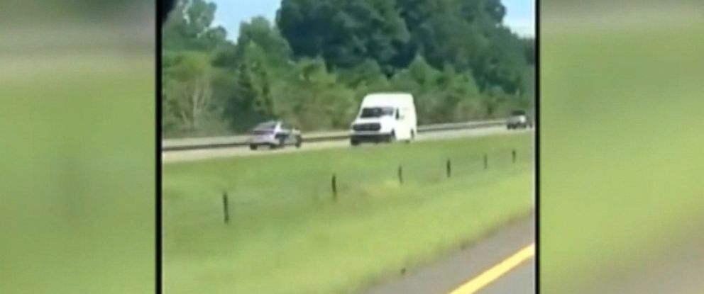 "VIDEO: Carisa Lynn says she ""freaked out"" while capturing the video on a highway in Catawba County."