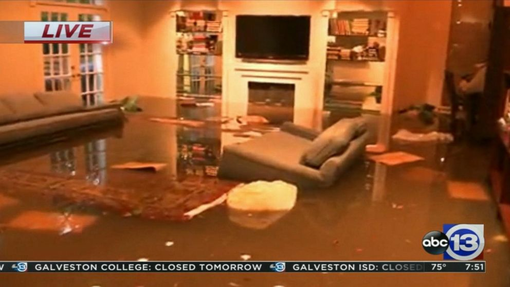 Harvey flood waters badly damage Houston home Video - ABC News
