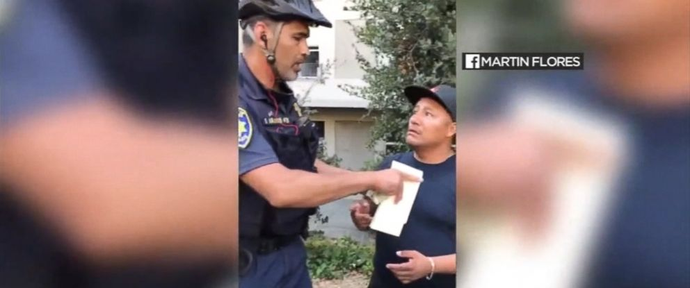 VIDEO: Cellphone video shows the officer taking money from vendor Beto Matias.