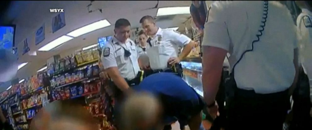 The officer was caught on bodycam video making the threat during an arrest.