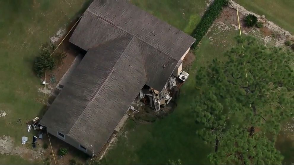 Sinkhole Swallows Part Of Florida Home Video
