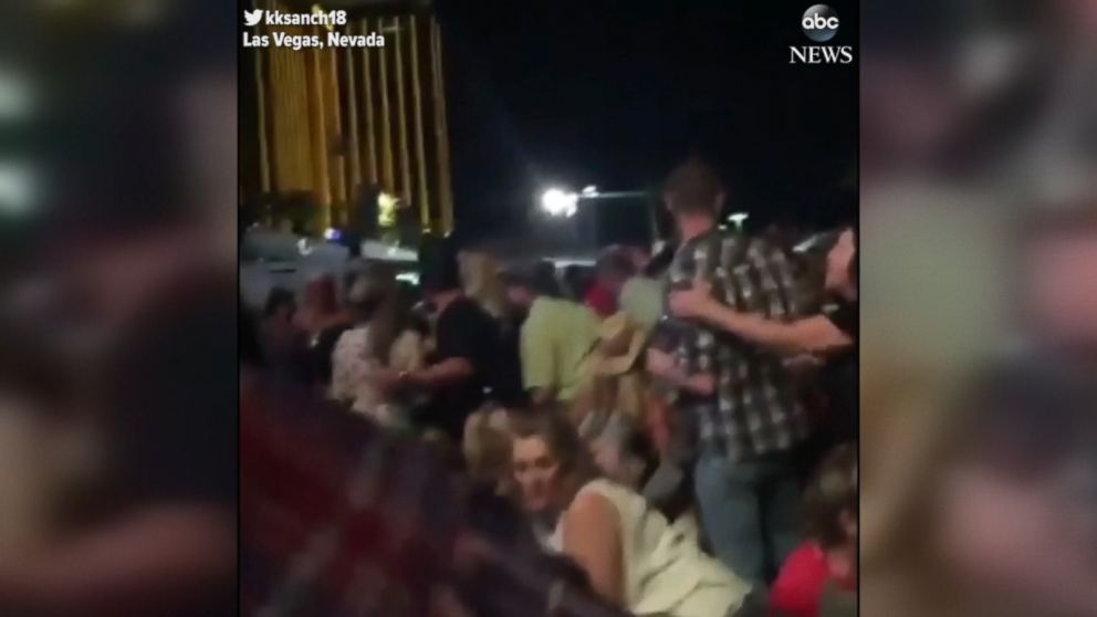 Dramatic footage of Las Vegas shooting