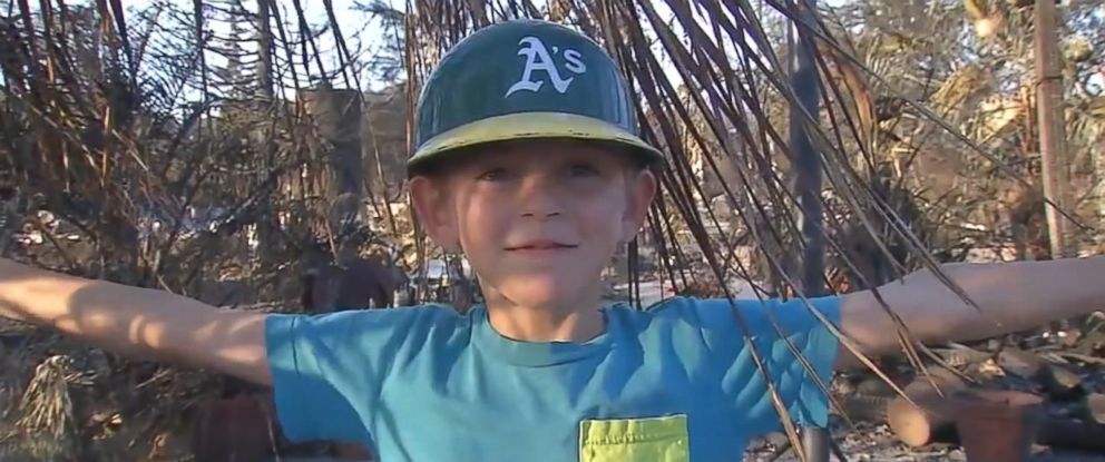 VIDEO: A 9-year-old whose house was destroyed by wildfires in Santa Rosa, California, wrote a letter to his favorite baseball team, the Oakland Athletics, describing the sports items he lost along with his home.