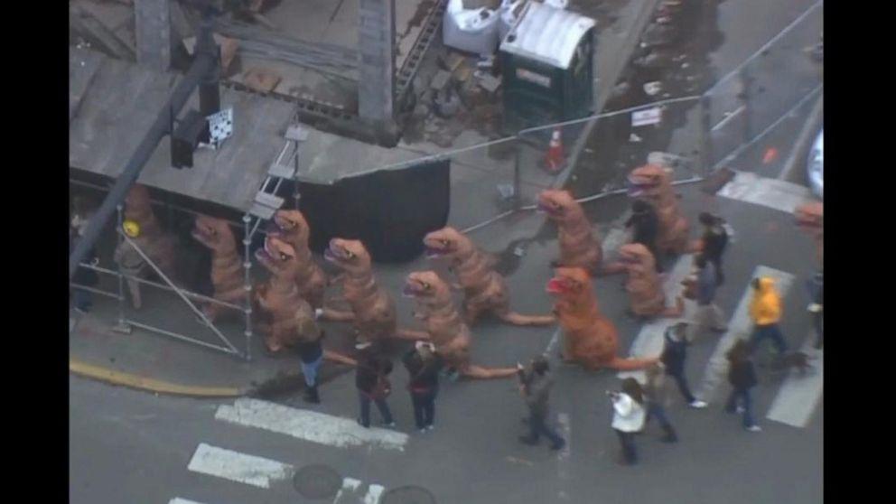 T Rex Stampede Invades Downtown Nashville Video Abc News
