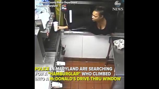 Woman climbs through McDonald's drive-through window to steal food and cash