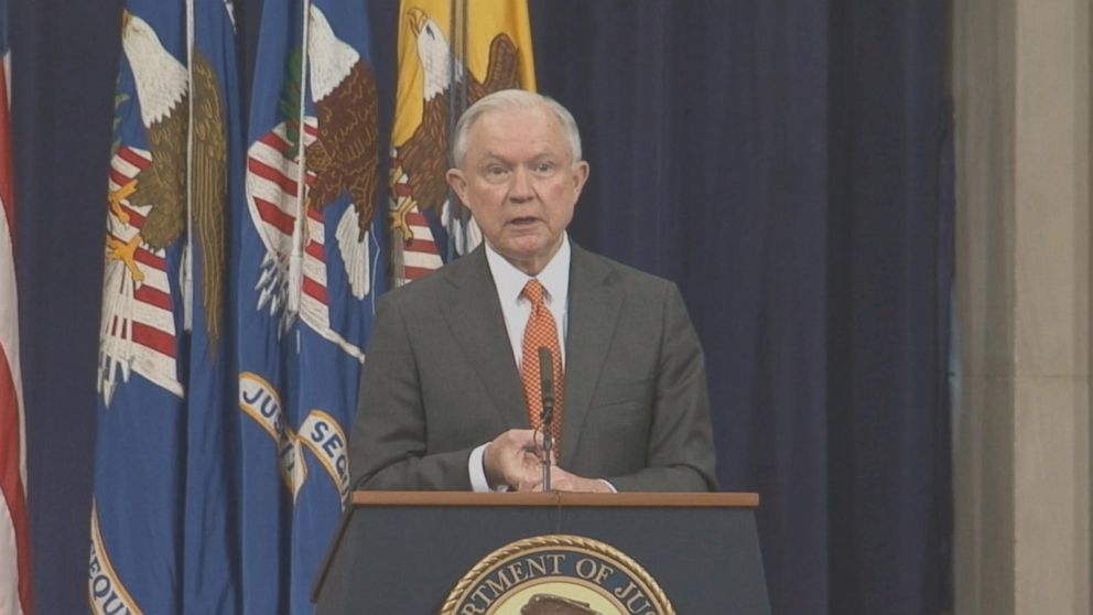 For more than 25 minutes in June, Attorney General Jeff Sessions took sometimes tough questions from interns. ABC News obtained video of the event through a Freedom of Information Act request.