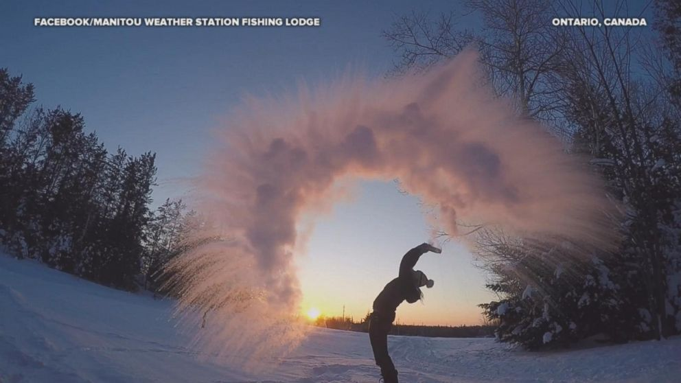 People turn boiling water into snow in new video craze - ABC