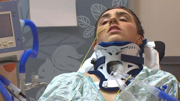 Teen paralyzed in Washington train derailment discusses accident