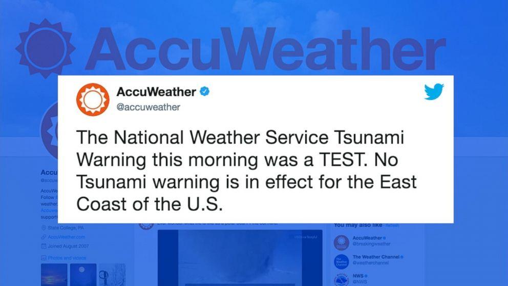 False tsunami warnings go out along the East Coast and in Texas