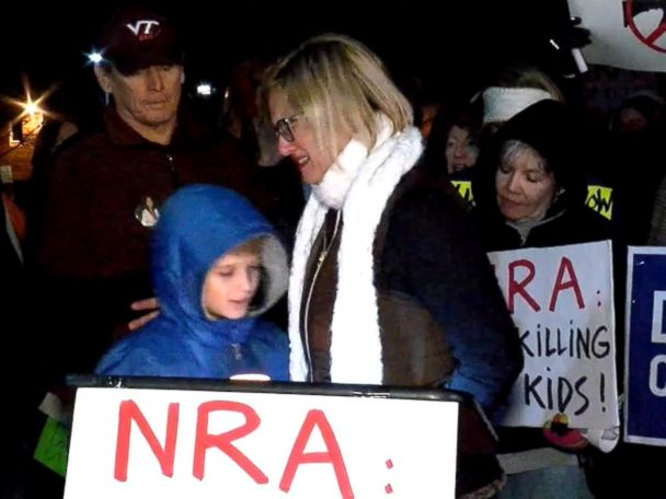 WATCH:  Hundreds protest outside NRA headquarters