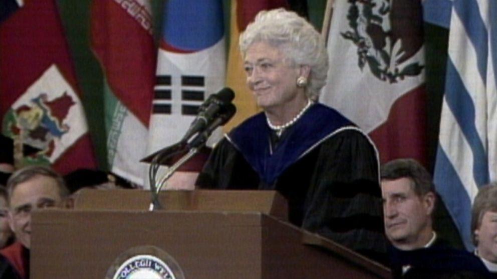 Barbara Bush's memorable speech at Wellesley College