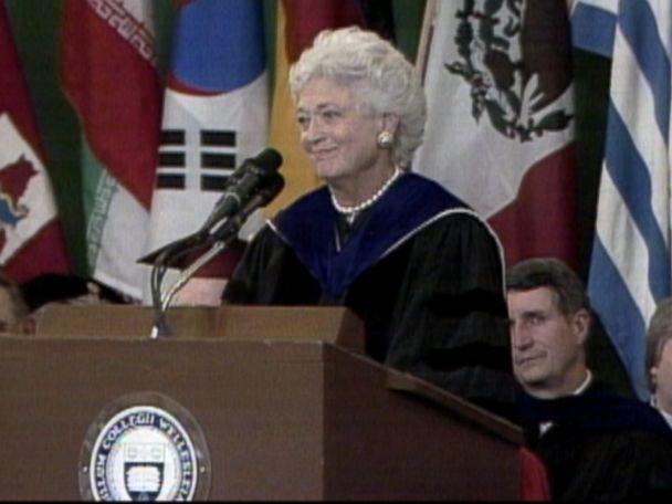 WATCH:  Barbara Bush's memorable speech at Wellesley College