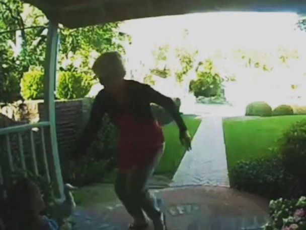 WATCH:  Woman grabs granddaughter after bear enters her yard