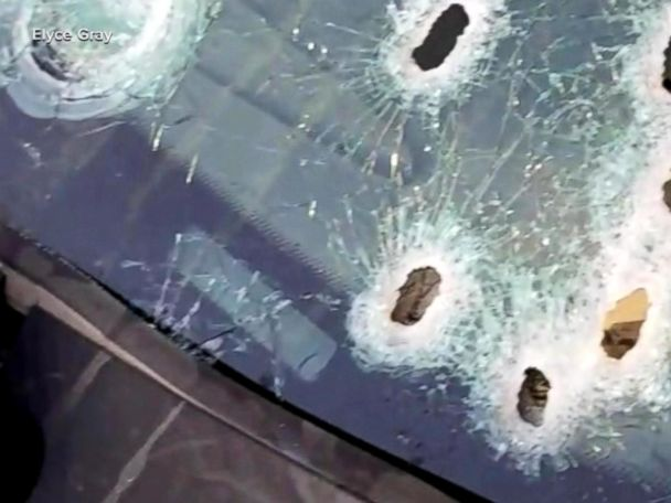 WATCH:  Video shows bullet-ridden vehicle after police shooting