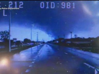 WATCH:  Dashcam captures tornado that left three injured
