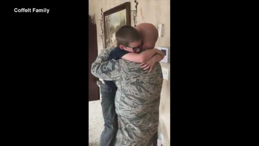 Deployed Dad Surprises Son For His Birthday