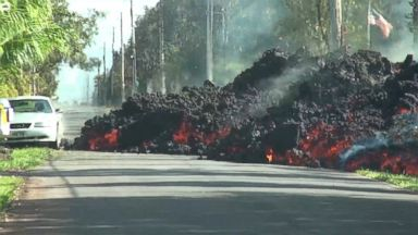 New images of lava gushing through Hawaii's big island and towards several homes Video 180507 vod orig lava timelapse 16x9 384