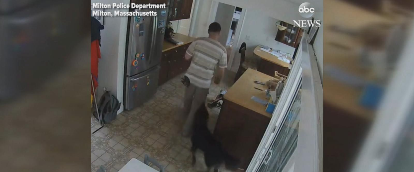 VIDEO: Burglar makes sure dog stays in the house