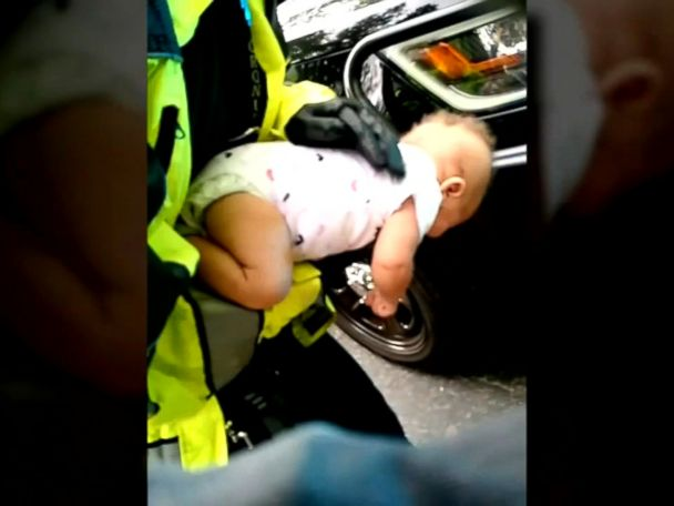WATCH:  Georgia police officer hailed a hero after helping save baby's life