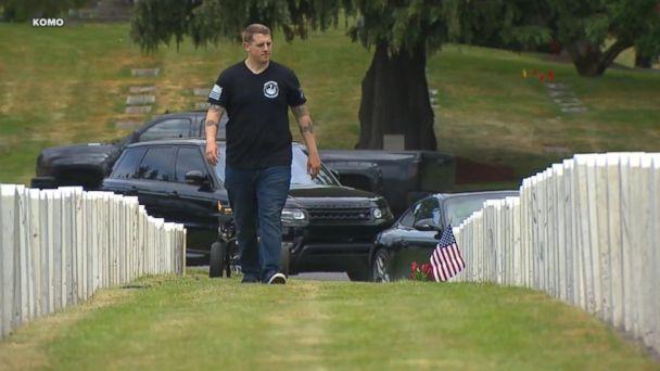 Veteran cleans fallen soldiers' headstones to honor Memorial Day