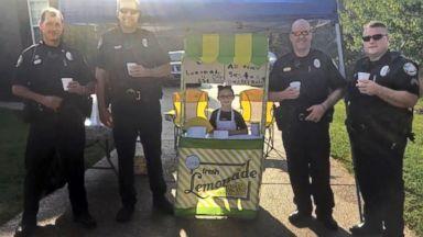 Girl's lemonade stand raises over $1,000 to benefit family of slain police officer Video 180611 abc lemonade stand hpMain 16x9 384