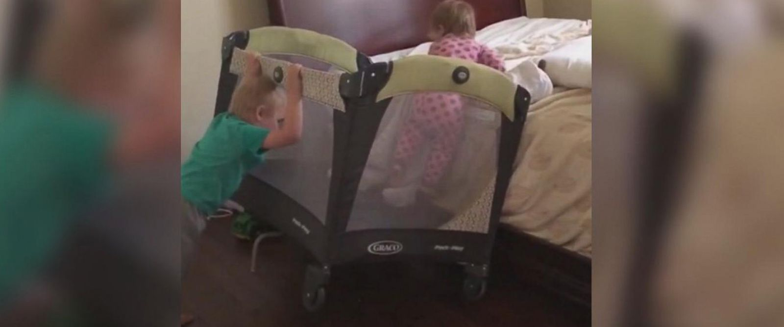 VIDEO:Clever toddler escapes from crib