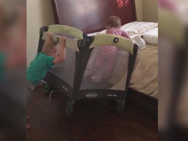 WATCH:  Clever toddler escapes from crib