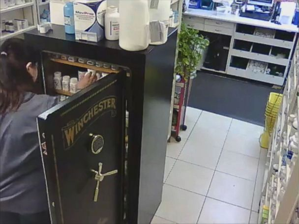 WATCH:  Surveillance video catches pharmacy employee allegedly stealing drugs