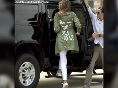 WATCH:  First lady wears controversial jacket to border visit